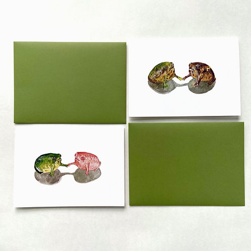 Set of 2 Greeting Cards with Envelopes