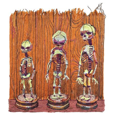 3 Fetal Skeletons