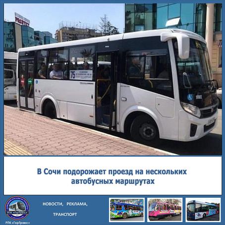В Сочи подорожает проезд на нескольких автобусных маршрутах