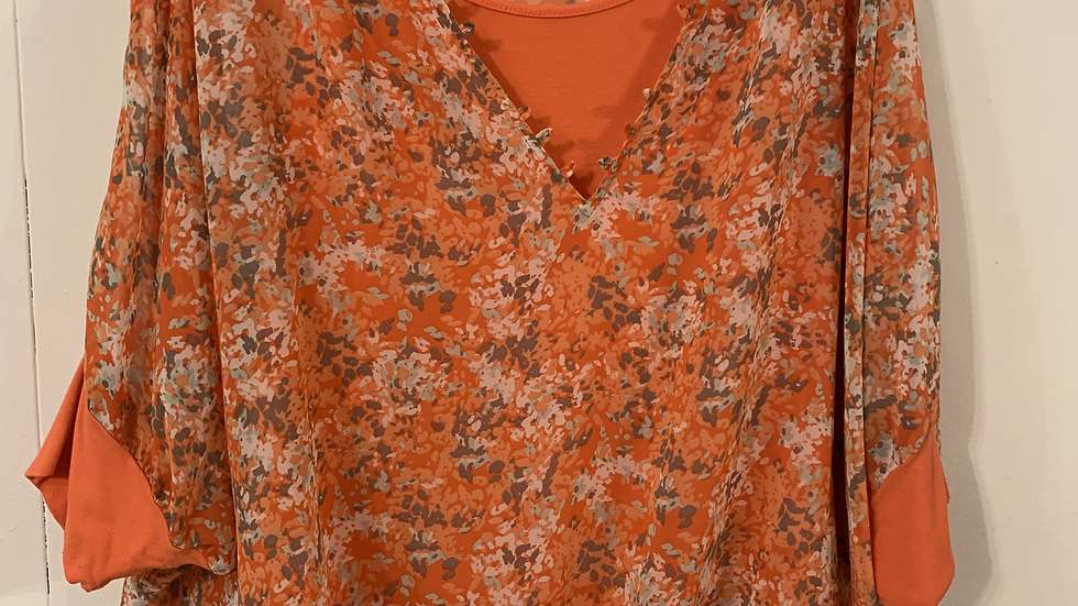 Blouse orange taille 50-52