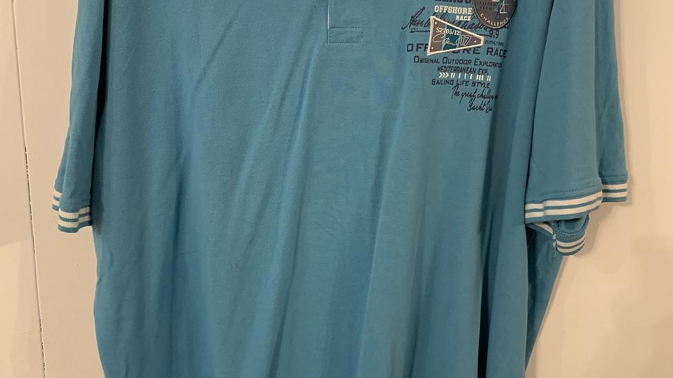 Polo bleu taille 4XL