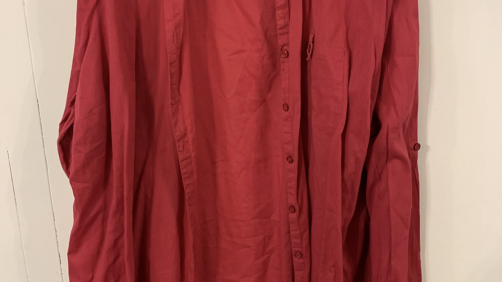 chemise rouge taille 54-56