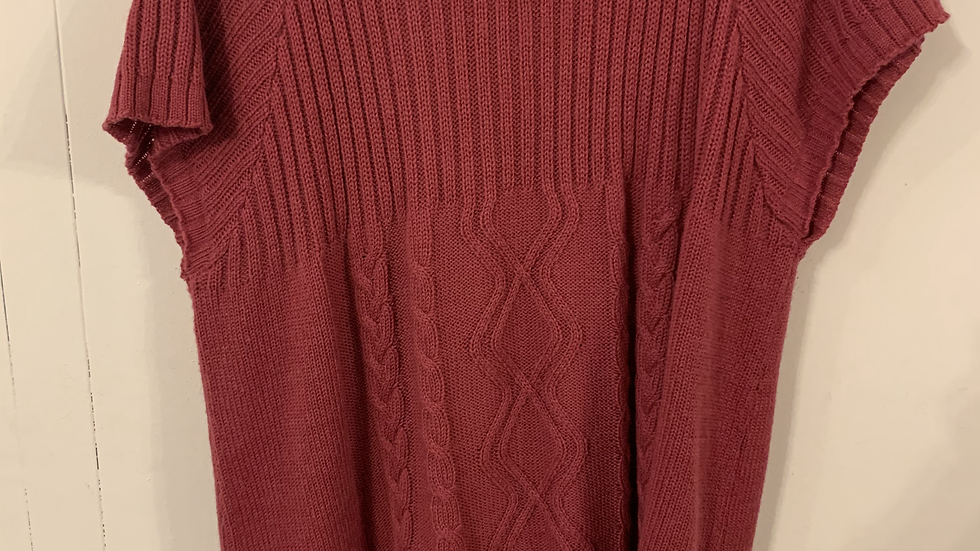 Pull manche courte rouge taille 54