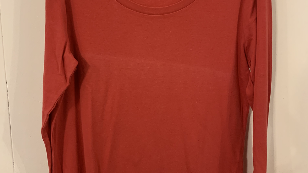 tee-shirt a manche longue rouge taille L