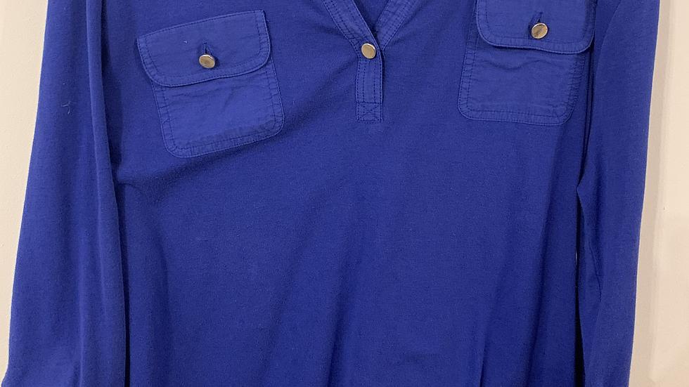 Chemisier bleu taille 44