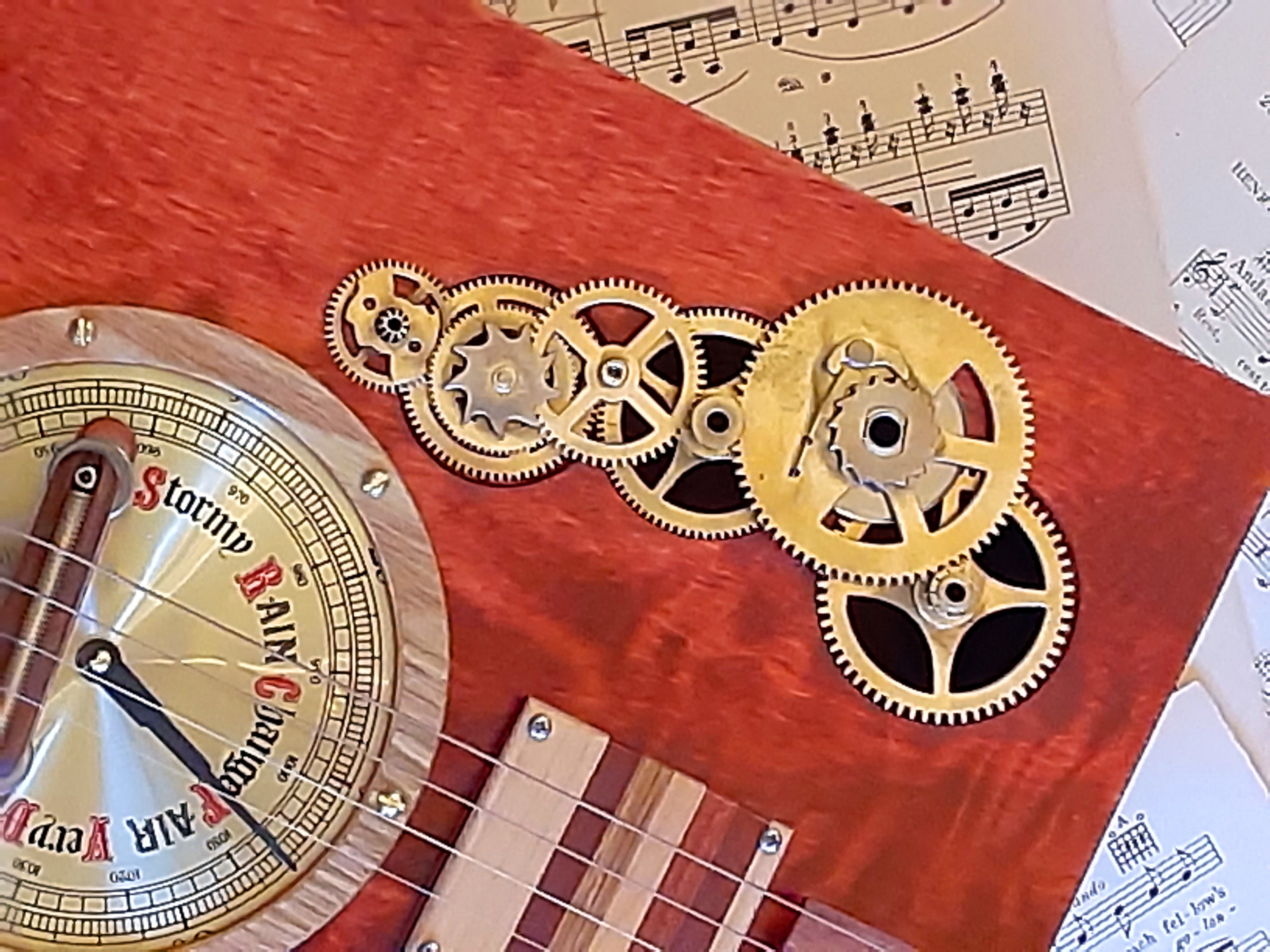 Clock Gear Sound Hole Cover