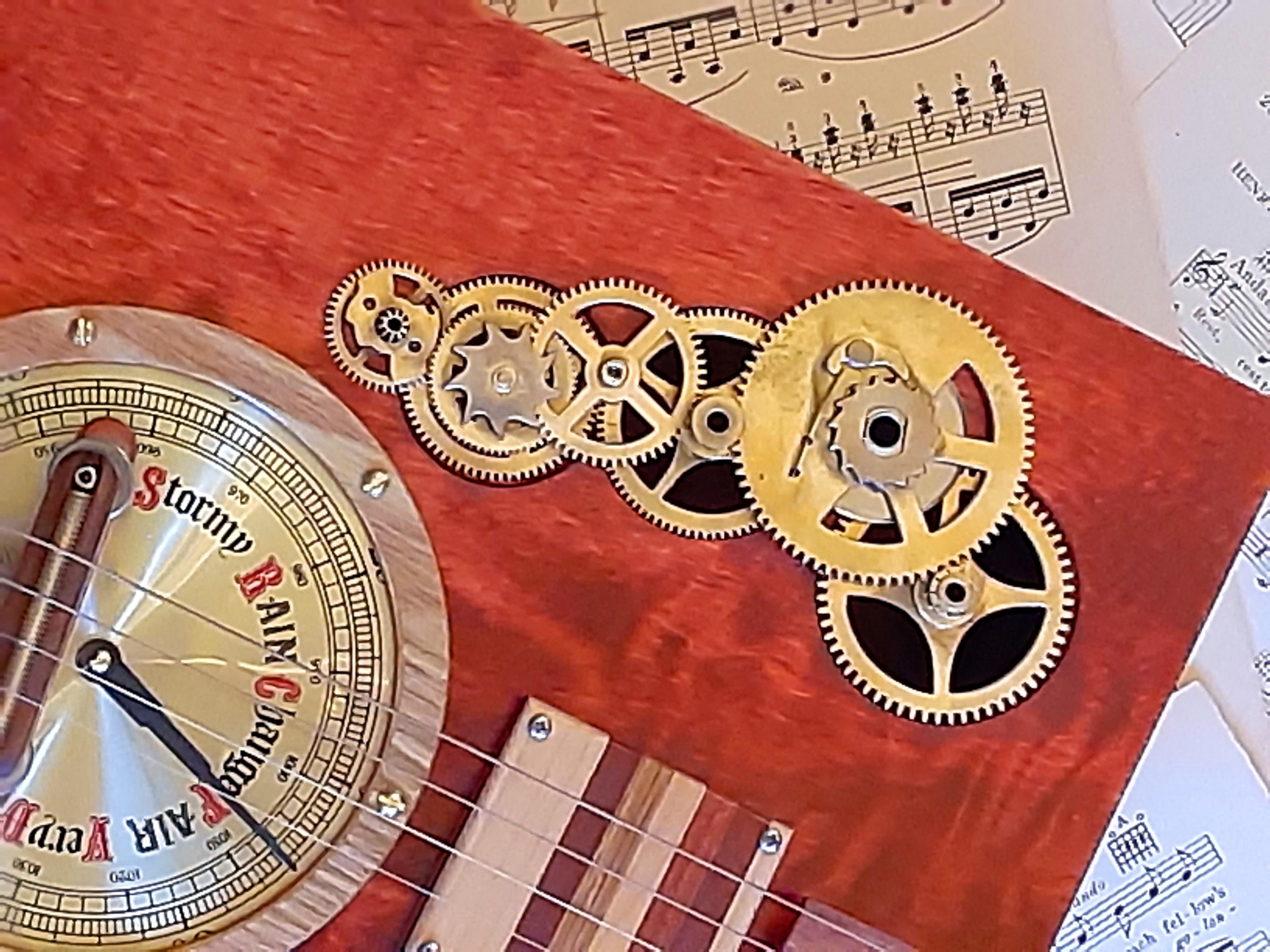 Clock Gear Sound Hole Cover
