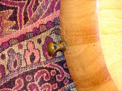 Drawer pull strap pin