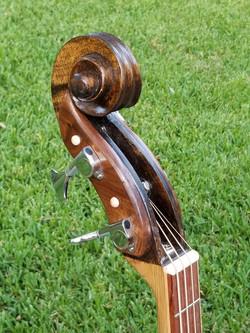Cello headstock & Chrome bass tuners