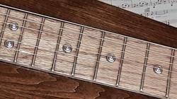 Oak fretboard