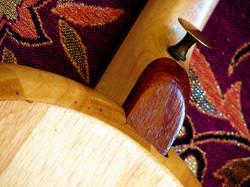 Layered heel & drawer pull strap pin