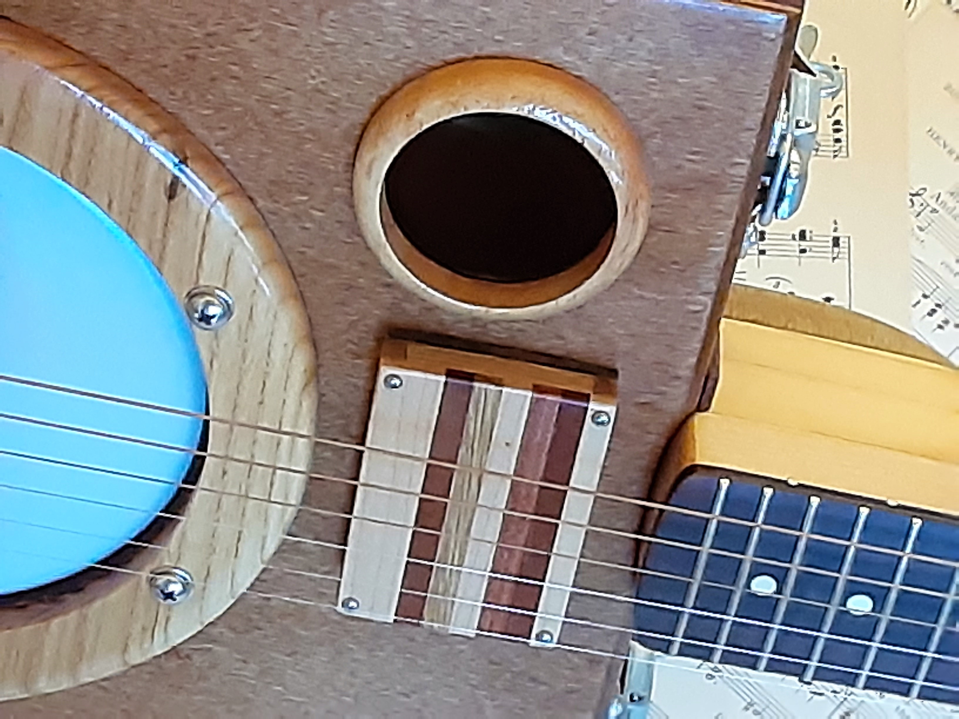 Wooden Sound Hole & MGB Pickup