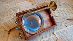 Silver Plate Sound Reflector