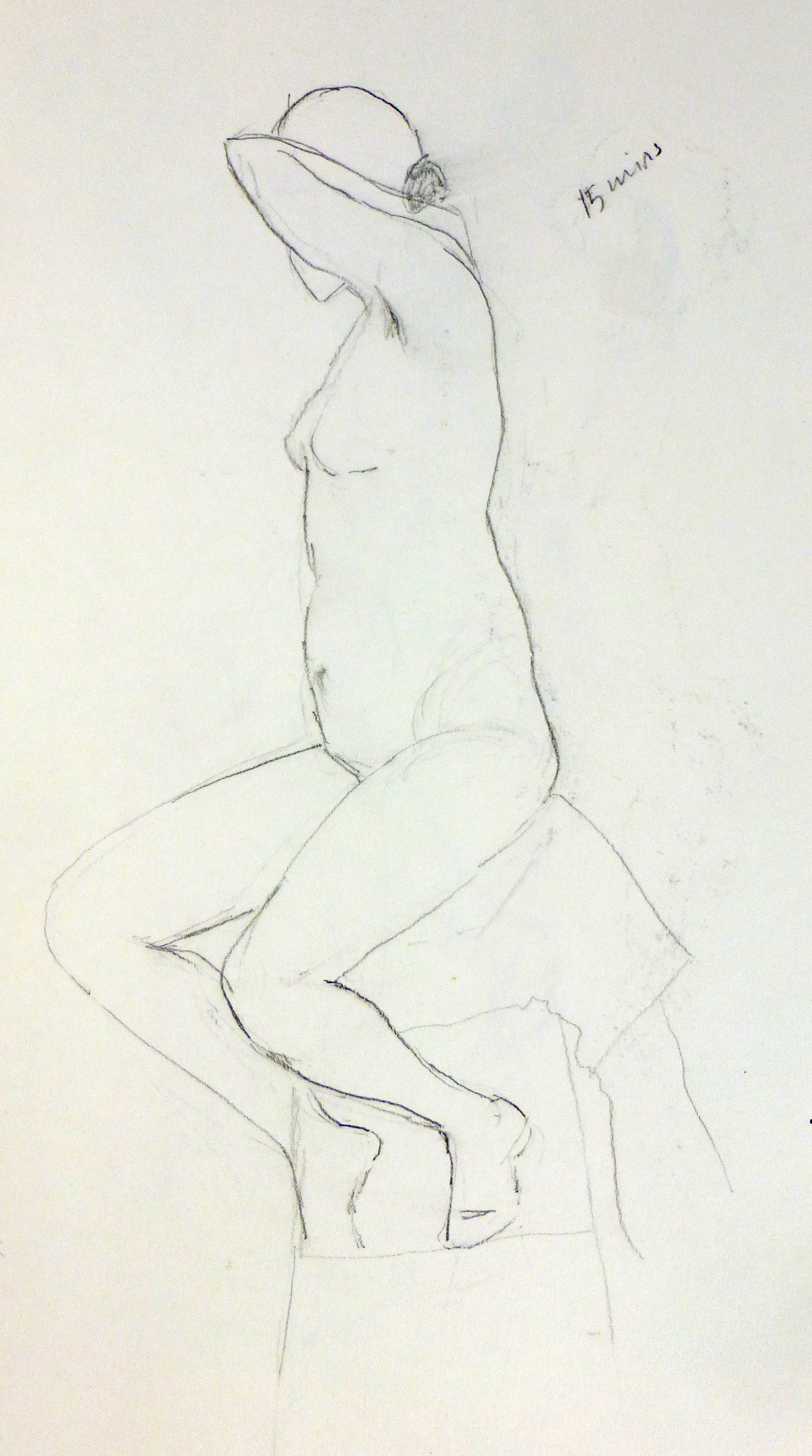 Life drawing by Art by Divya