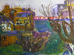 Landscape painting by Art by Divya