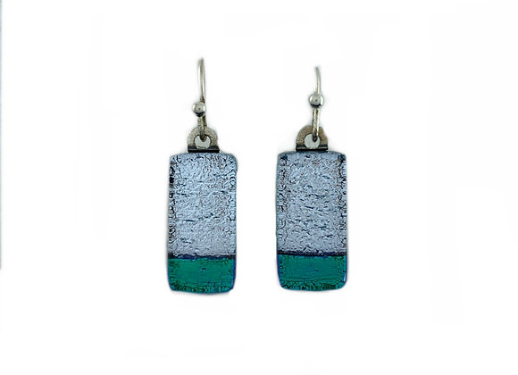 Silver and Green Earrings