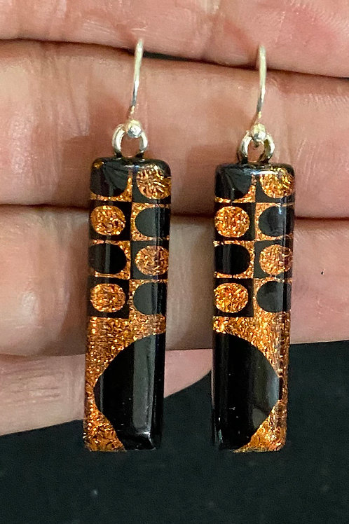 Halloween/Fall Half Moon Dot Earrings