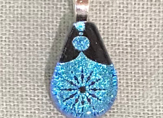 Blue Luster Christmas Petite Necklace