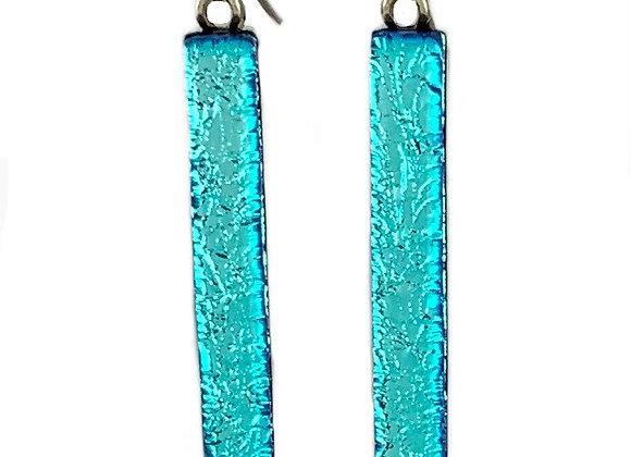 Aqua Ice Bar Earrings