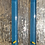 Thumbnail: Teal Blue with Gold Bar Earrings