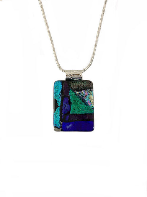 Emerald Green View Mosaic Pendant