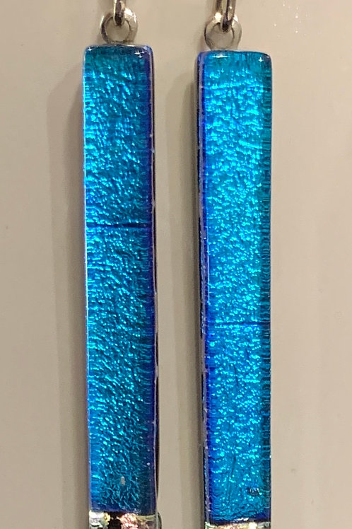 Turquoise and Sparkle Bar Earrings