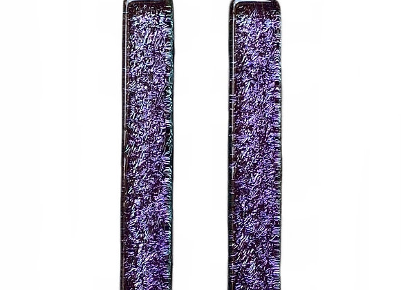 Purple Bar Earrings