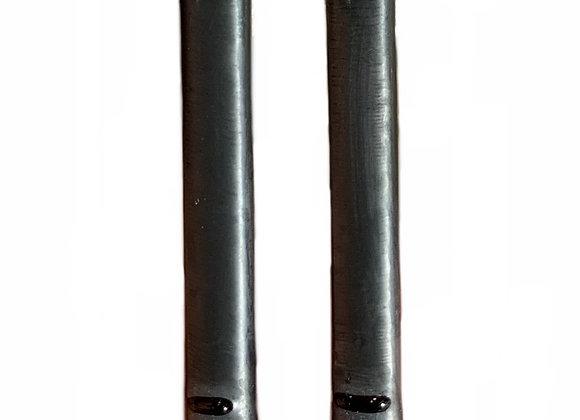 Steel Blue Bar Earrings