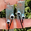 Thumbnail: Modern Silver Blue Flower Earrings