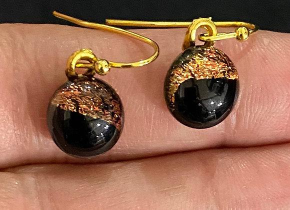 Orange and Black Gold Drops