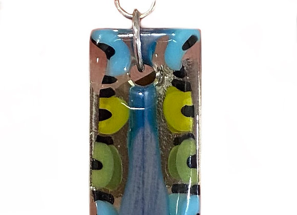 Rectangular Butterfly Body Pendant