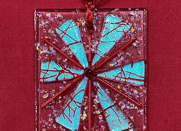 Red and Silver Blue Ornament 2