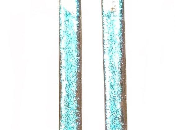 Blue Blush Bar Earrings