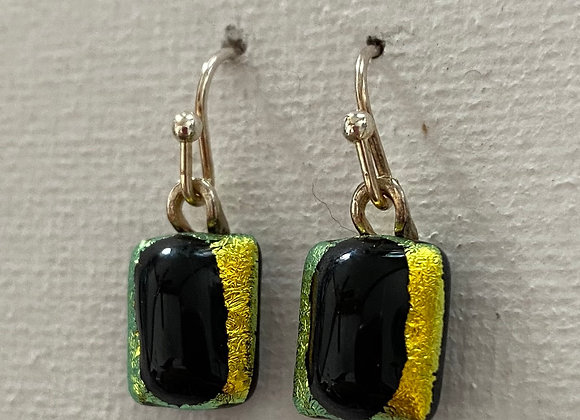 Gold and Black Earrings 2-130