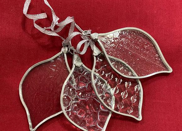 Clear Glass Ornament Set