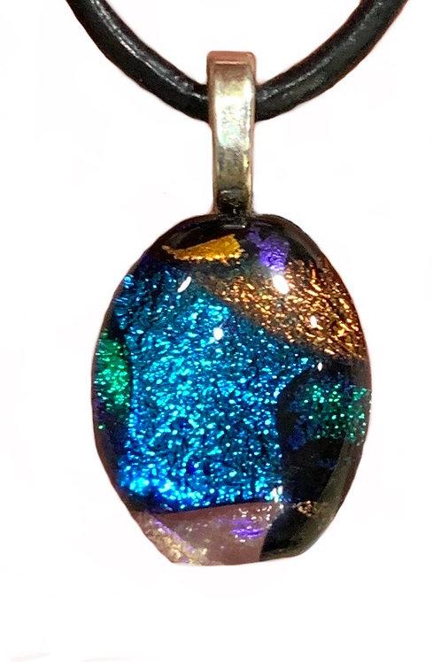 Blue Colorburst Pendant