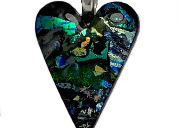 Green Confetti Heart Pendant Pendant