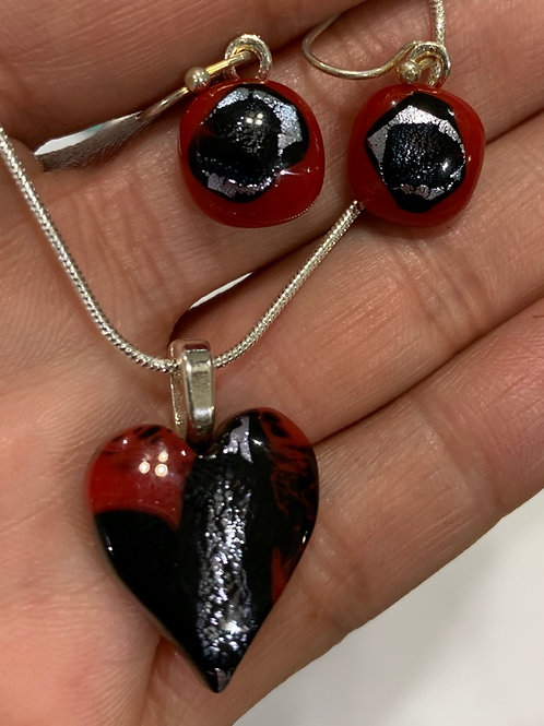 At the Heart of It Pendant and Earrings