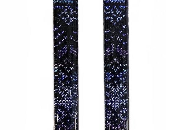 Long Black Sweater Bar Earrings