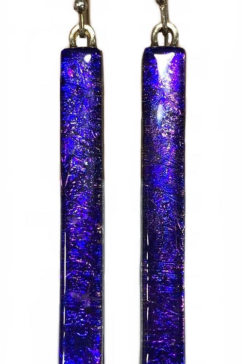 Cosmic Purple Bar Earrings