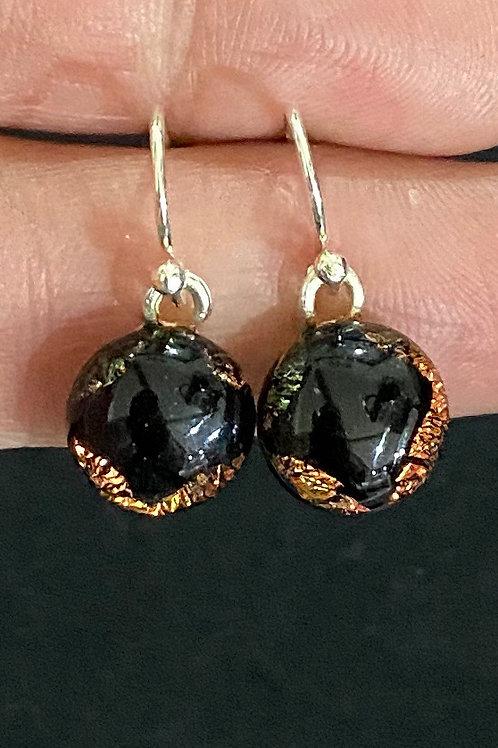 Halloween/Fall Silver Drop Earrings