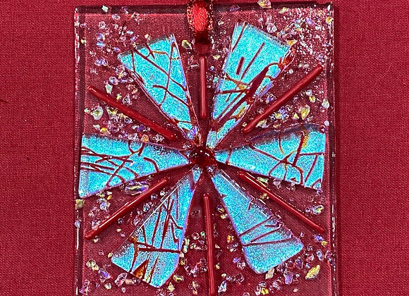 Red and Silver Blue Ornament 1