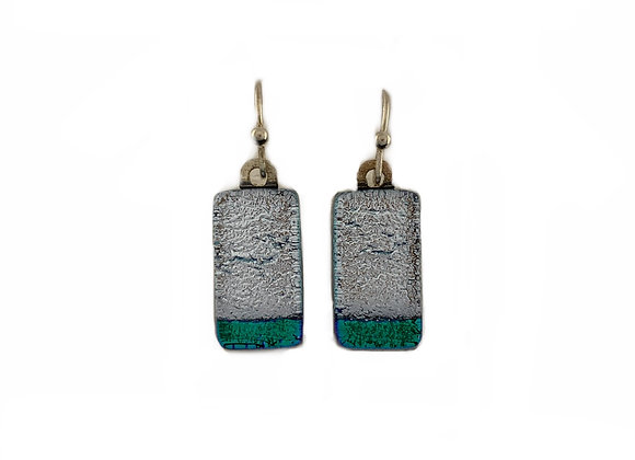 Silver and Green Earrings B