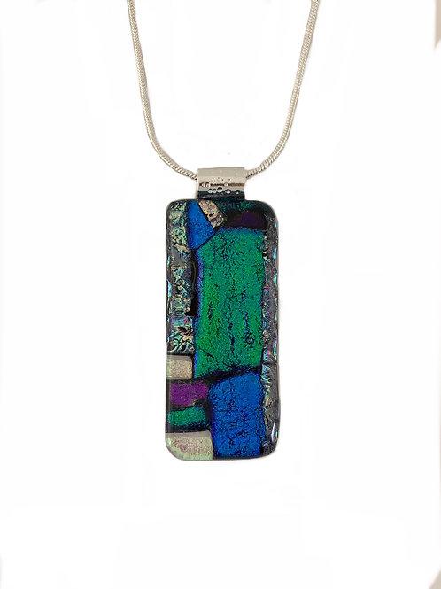 Emerald Green Mosaic Window Pendant