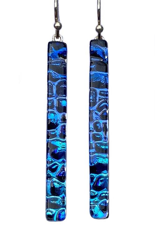 Blue Ombré Bar Earrings