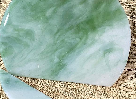 Custom Jadeite and Milk Glass Charcuterie Board