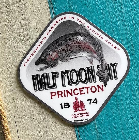 Half Moon Fishtail Sticker