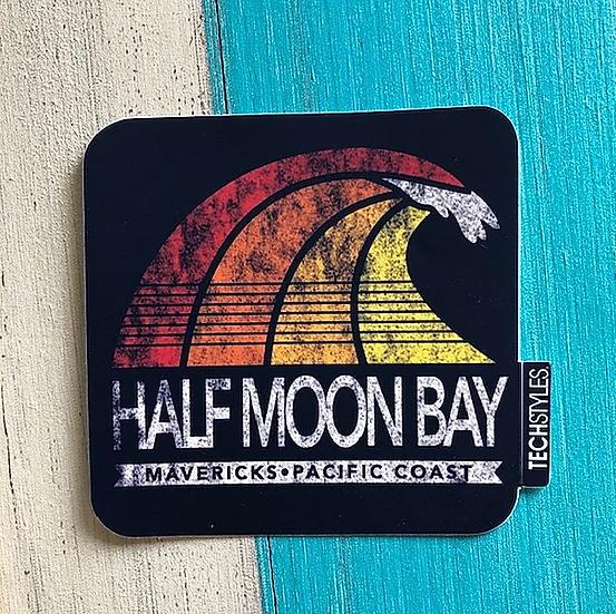 Navy Fade Wave Sticker