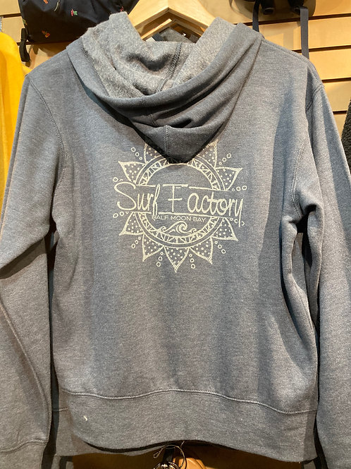 BE THE LIGHT WAVE WOMENS ZIP UP HOODIE
