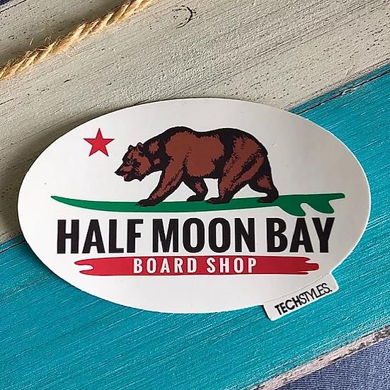 Longboard Bear Sticker